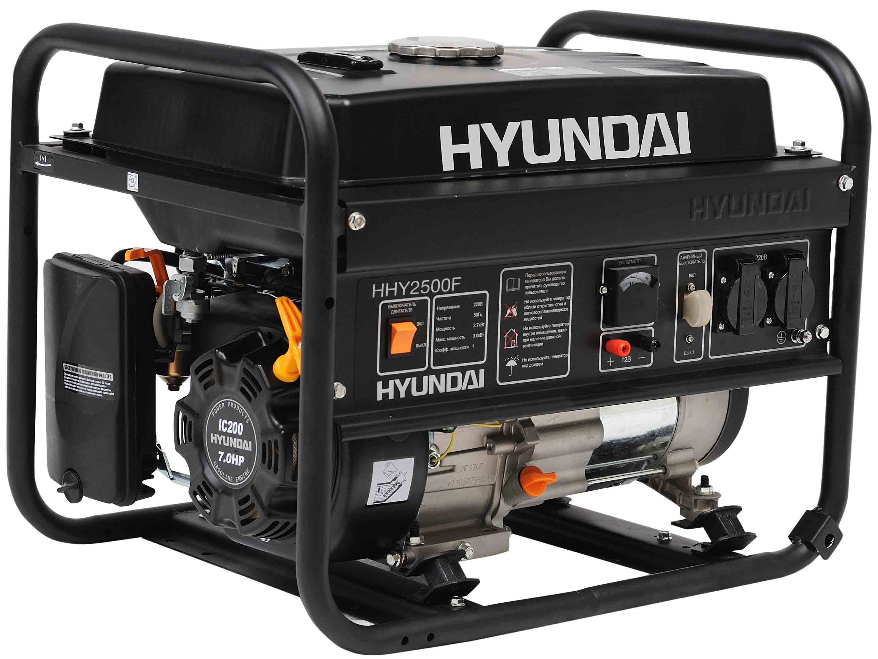 сервисные инструкции на инверторный бензогенератор hyundai