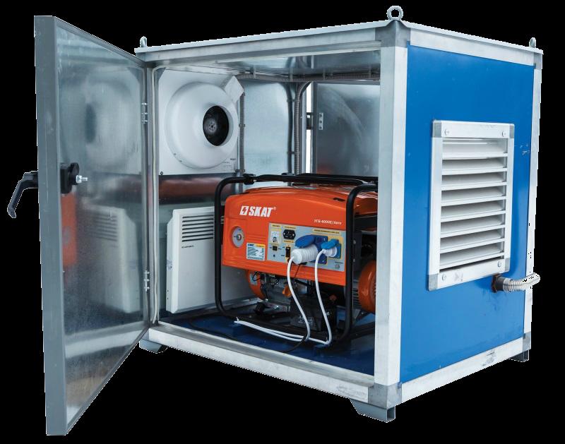 Установка бензинового генератора на улице импульсный стабилизатор повышенного входного напряжения